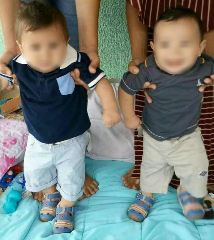 Bebês foram trocados na maternidade e 'destrocados'  após quase 11 meses com determinação da Justiça (Foto: Arquivo pessoal)
