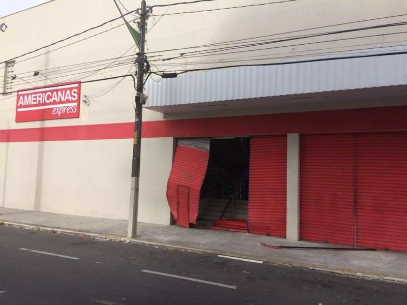 Loja de departamento foi arrombada na Zona Leste de Natal (Foto: Divulgação)