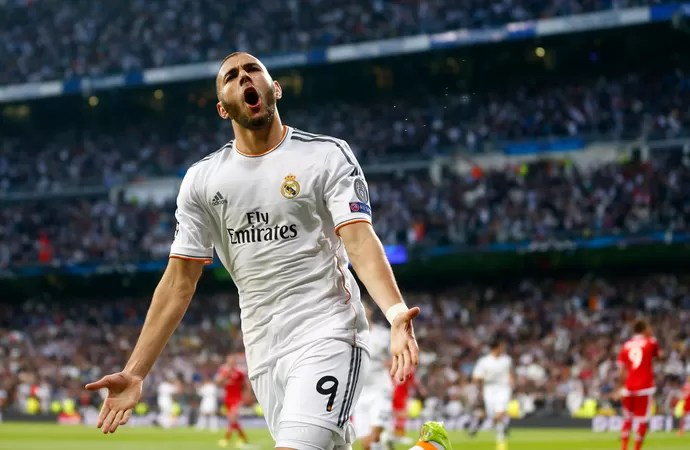 benzema gol, Real Madrid x Bayern de Munique (Foto: AP)