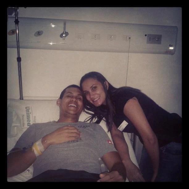 Visitas e alegria ajudaram no tratamento do atleta no hospital, em Piracicaba (Foto: Arquivo pessoal)