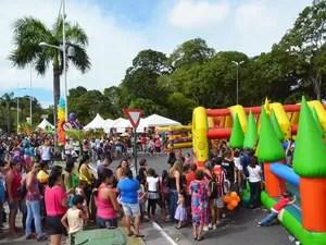 Dia de Brincar em João Pessoa (Foto: Walter Paparazzo/G1)