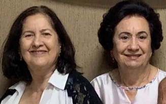 Nelma e Nelita Vilela, irmãs de Maguito, morreram vítimas da Covid-19 — Foto: Reprodução/Arquivo pessoal
