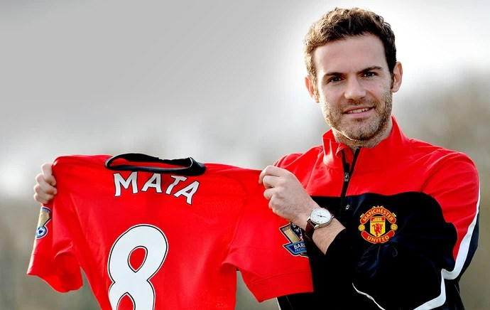 Juan Mata camisa 8 Manchester United (Foto: AFP)