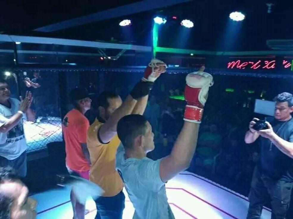 Mateus já tinha feito duas lutas no MMA amador e se preparava para seguir carreira profissional — Foto: Arquivo Pessoal