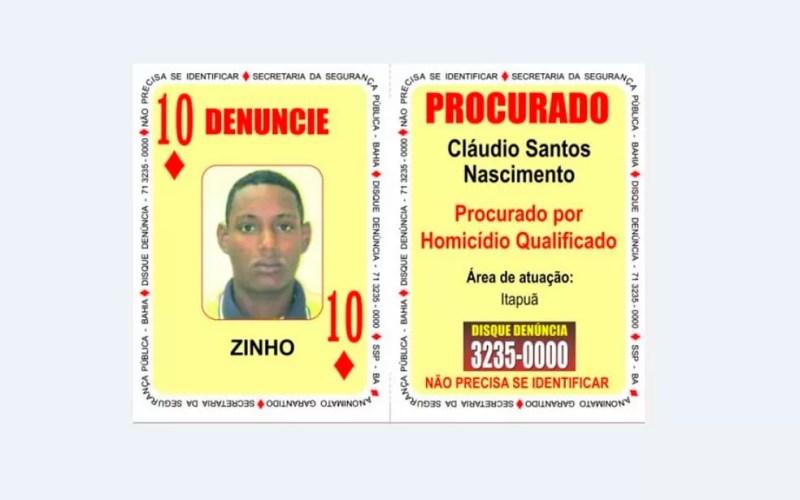 Zinho foi morto em troca de tiros em Salvador (Foto: Divulgação / SSP-BA)