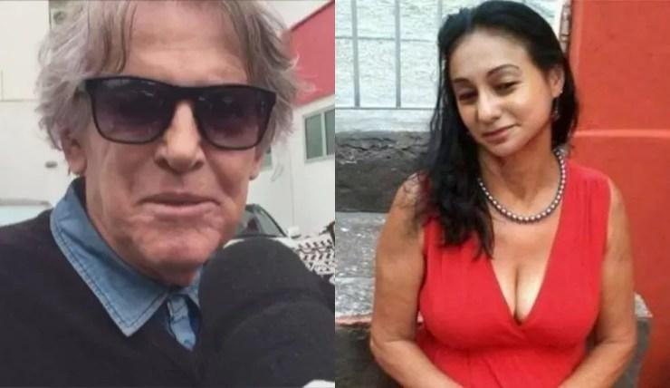 Antonio (à esquerda) estava com Vera (à direita) em casa quando namorada teria chegado na casa dele em Sorocaba (Foto: Reprodução/TV TEM - Reprodução/Facebook)
