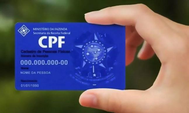 O número do Cadastro de Pessoa Física (CPF) é um exemplo de dado pessoal — Foto: Divulgação/Receita Federal