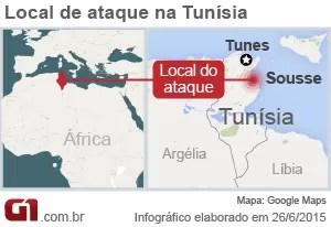 Ataque tunísia - arte (Foto: Arte/G1)