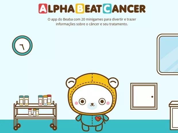 Jogo AlphaBeatCancer, feito pela Mukutu e pelo Instituto Beaba (Foto: Divulgação)