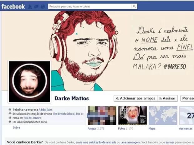 Facebook do DJ Darke Mattos, preso por pedofilia (Foto: Divulgação/Facebook)