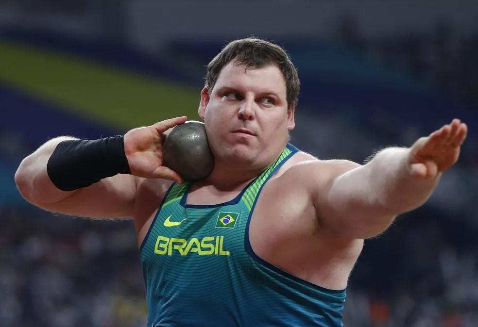 Darlan Romani fez grande marca, mas não conseguiu a medalha — Foto: Wagner do Carmo/CBAt