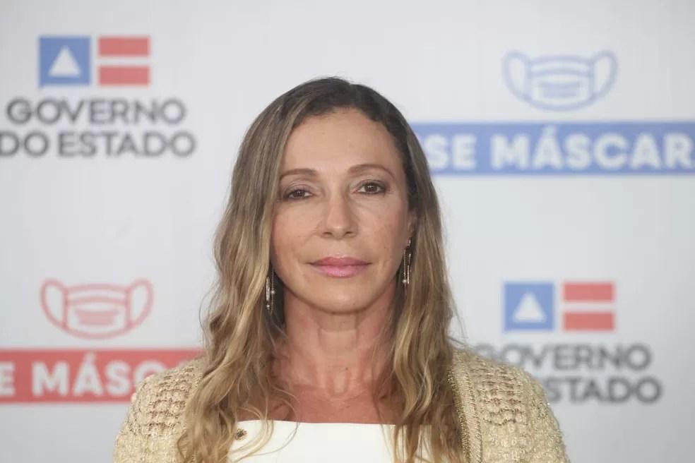 Rui Costa anunciou a delegada Heloísa Brito, como chefe da Polícia Civil — Foto: Elói Corrêa/ GOVBA