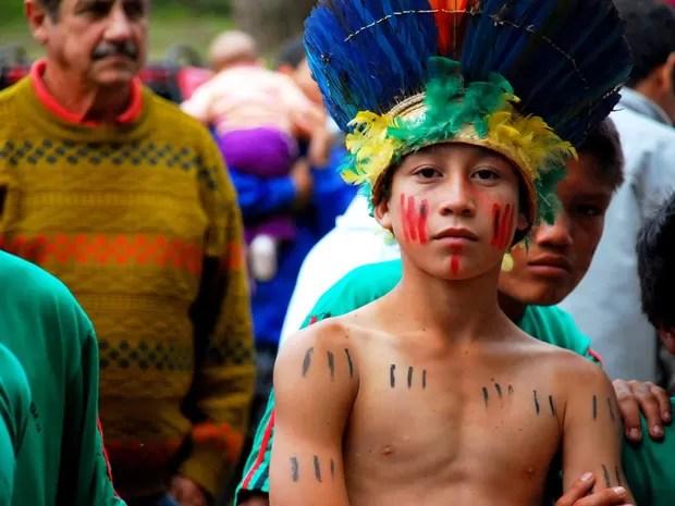 Mais de 1,5 mil índios, entre Caingangues e Guaranis, vivem na reserva. (Foto: Daniel Jaeger Vendruscolo / Arquivo pessoal)