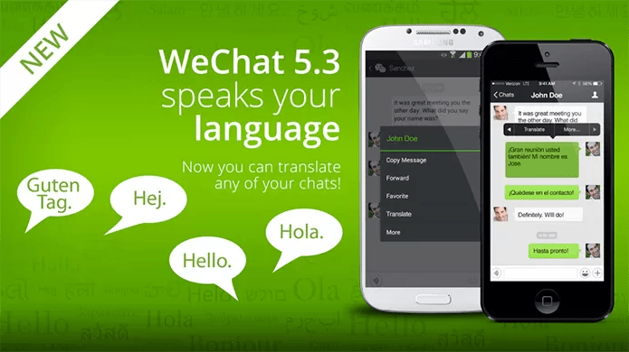 WeChat pode traduzir mensagens no chat, algo que o WhatsApp só faz no Android 6.0 (Foto: Divulgação)