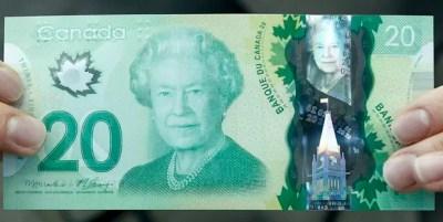 Nota emitida pelo Banco do Canadá mostra espécie de folha errada (Foto: Chris Wattie/Reuters)