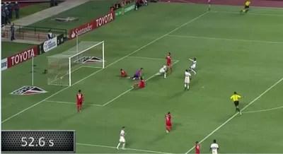 Cronômetro posse de bola gol São Paulo Toluca-MEX (Foto: Reprodução SporTV)