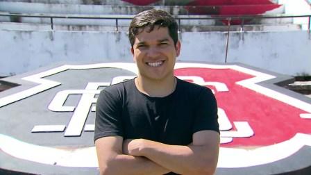 Renatinho chegou ao Santa Cruz em 2009 para jogar nas categorias de base (Foto: Reprodução / Globo Esporte)