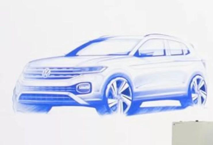 Esboço do desenho do Volkswagen T-Cross (Foto: Reprodução)
