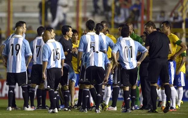 Iluminação Estadio Argentina x Brasil (Foto: Agência AFP)