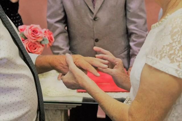 Casamento é o segundo Vitório e o terceiro de Neusa, que mora em Votorantim — Foto: Arquivo pessoal/Thais Corrêa