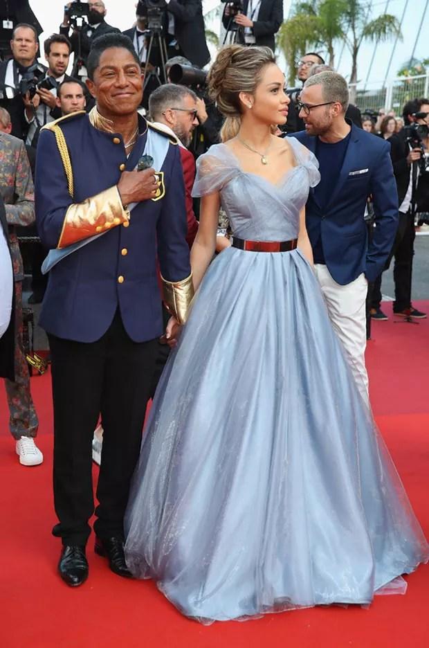 Jermaine Jackson e namorada (Foto: Getty Images)