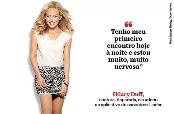 Hilary Duff, cantora. Separada, ela aderiu  ao aplicativo de encontros Tinder (Foto: Stewart Shining /Trunk Archive)