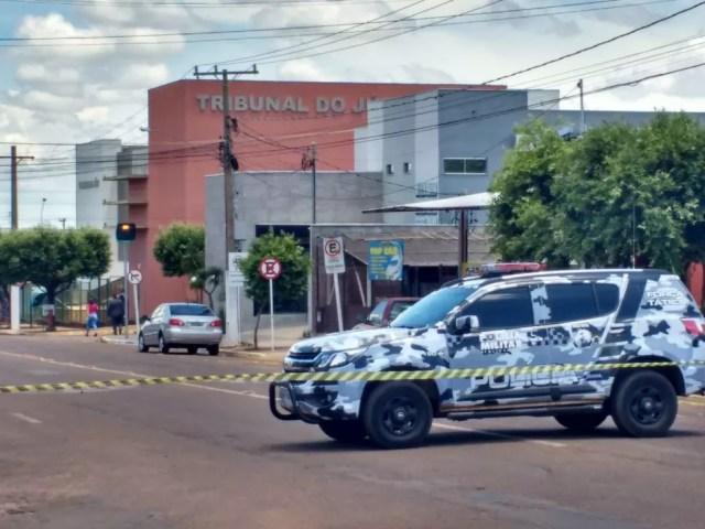 Batalhão da PM foi enviado para desloquear a rodovia (Foto: Polícia Civil/Divulgação)