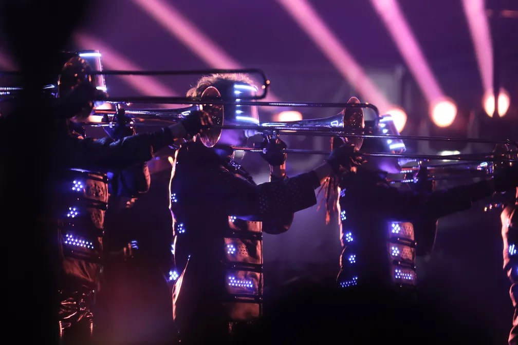 Depois de tocar no Rock in Rio, Muse fez show em São Paulo nesta quarta (9) — Foto: Celso Tavares/G1