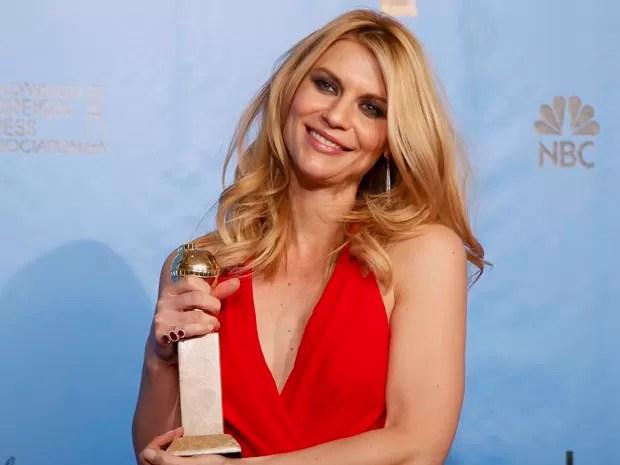 Claire Danes ganhou o Globo de Ouro de melhor atriz em série de TV na categoria drama (Foto: Lucy Nicholson/Reuters)