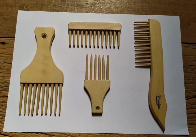 Pentes de bambu que foram fabricados com os cabos produzidos por agricultores de Ribeirão Branco (SP)  — Foto: Divulgação