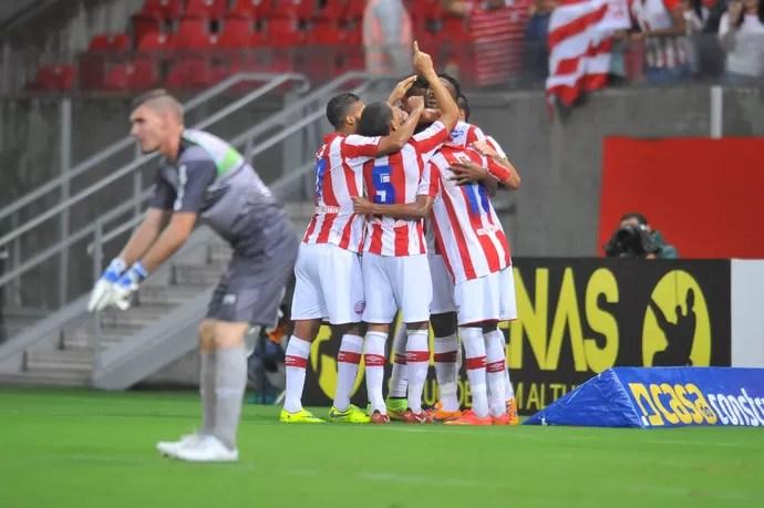 Náutico x América-MG gol de Diego (Foto: Antônio Carneiro/Pernambuco Press)