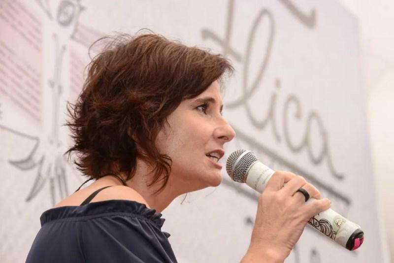 Eliane Brum na Flica, em Cachoeira — Foto: Ricardo Prado/Divulgação