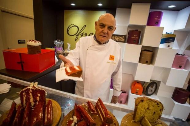 O chef Marco Antônio Troli, que há 40 anos faz a curadoria e as inovações da linha de panetones da Ofner — Foto: Fabio Tito/G1