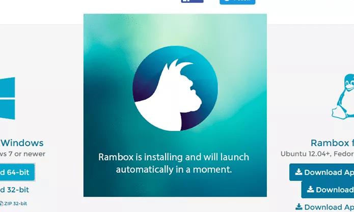 Instale o Rambox no PC para usar serviços como WhatsApp e Facebook Messenger (Foto: Reprodução/Elson de Souza)