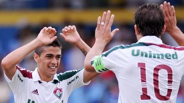 Lanzini gol Fluminense x Madureira (Foto: Dhavid Normando / Photocamera)
