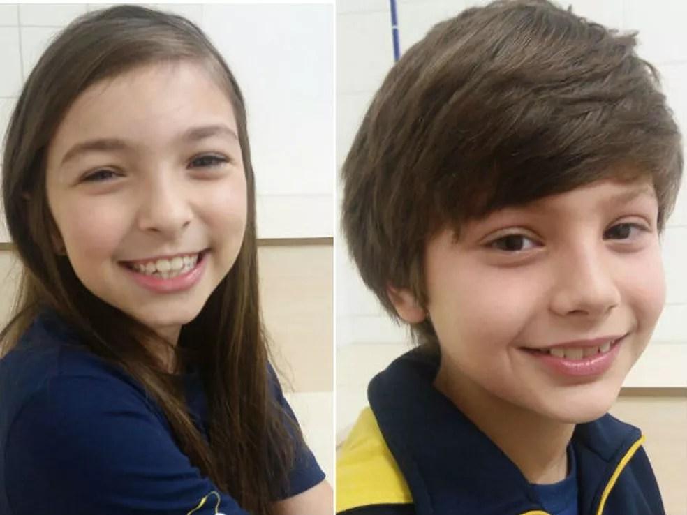 Anita e Henrique participaram do experimento  (Foto:  Escola Atuação/Arquivo pessoal)