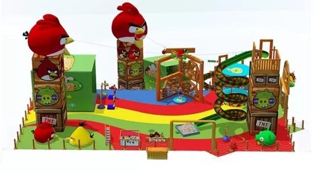 Imagem do projeto do playground de 'Angry Birds' que será lançado nos shoppings do Brasil (Foto: Divulgação/Rovio)