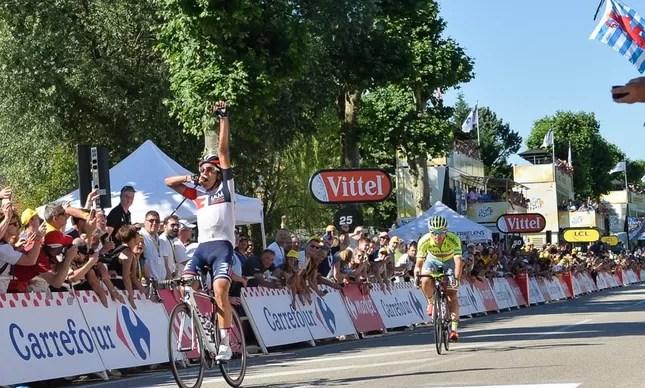 Pantano comemorando a vitória na 15ª etapa do Tour deste ano