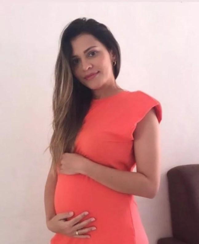 Psicóloga estava grávida de gêmeas — Foto: Arquivo Pessoal