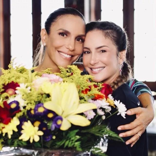 Ivete Sangalo e Claudia Leitte, dupla de sucesso — Foto: Reprodução/Instagram