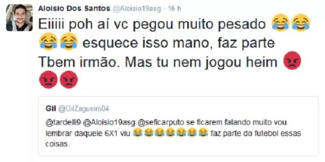 Aloisio Gil Tardelli zoeira corinthians são paulo (Foto: Reprodução/Twitter)