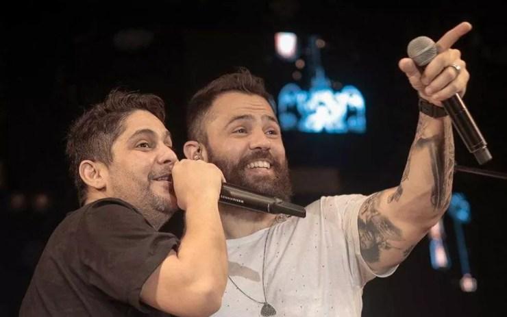 Jorge e Mateus se apresentam no camarote Villa Mix — Foto: Divulgação/Jorge e Mateus