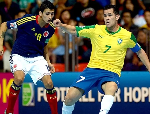 jogo Brasil e Colômbia futsal Mundial (Foto: FIFA.com via Getty Images)