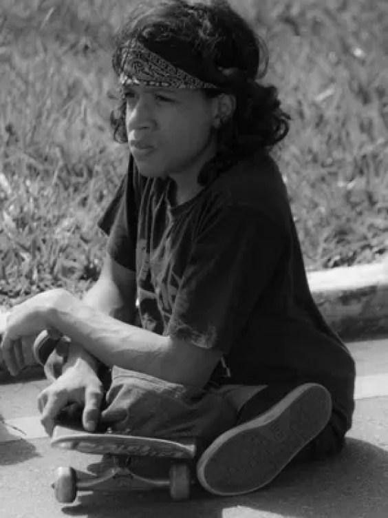 Mateus Moreira em skate (Foto: André Redivo/Reprodução)