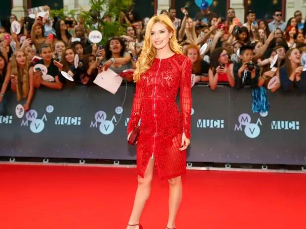 Bella Thorne em prêmio de música em Toronto, no Canadá (Foto: Mark Blinch/ Reuters)