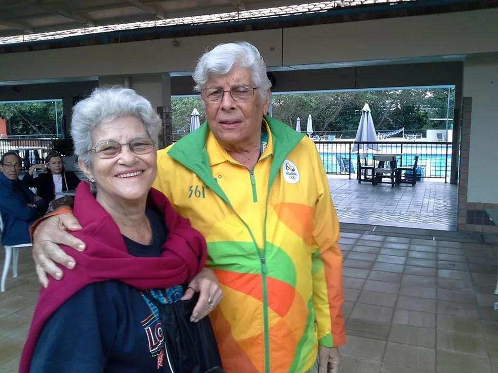 Rogério e dona Norma Carneiro  (Foto: Divulgação)