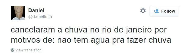 Chuva no Rio 6 (Foto: Reprodução/Twitter)