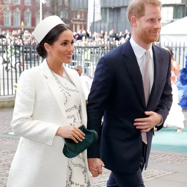 LONDON, UNITED KINGDOM - MARCH 11: (EMBARGOED FOR PUBLICATION IN UK NEWSPAPERS UNTIL 24 HOURS AFTER CREATE DATE AND TIME) Meghan, Duchess of Sussex and Prince Harry, Duke of Sussex attend the 2019 Commonwealth Day service at Westminster Abbey on March 11, (Photo: Max Mumby/Indigo/Getty Images)