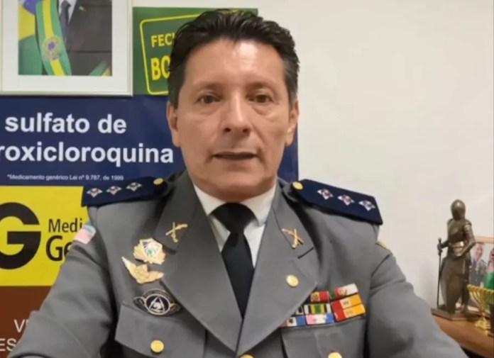 Capitão Assumção, candidato a prefeito pelo Patriota — Foto: Reprodução/TV Gazeta