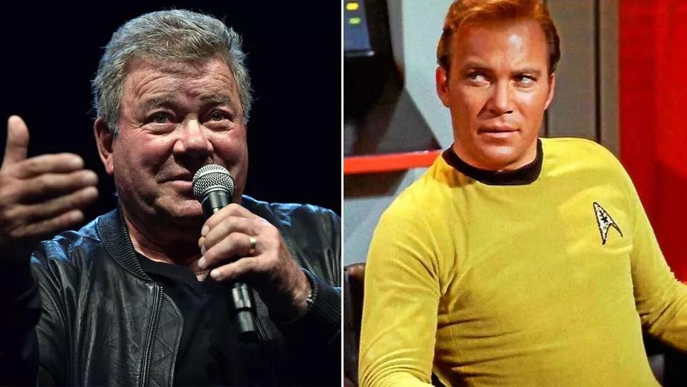 William Shatner, astro de 'Star Trek', participará de voo espacial da Blue Origin — Foto: Josh Edelson/AFP; Reprodução